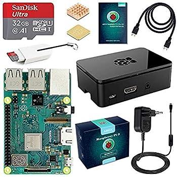LABISTS Raspberry Pi 3 Modello B+ (Plus) Starter Kit Barebone Madre con MicroSD Card 32GB, Custodia e Power Supply 5V 3A con Interruttore
