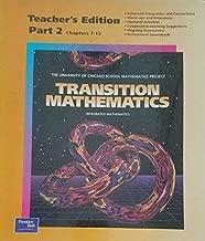 Transition Mathematics: Teacher's Edition Part 2 (Ch 7-13)