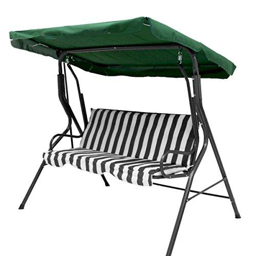 Baogu 3-Sitzer Ersatzdach Hollywoodschaukel Dach Schaukeldach für Gartenschaukel Schaukelbank 148 cm x 240 cm Grün