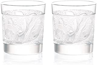 Lalique Set Of 2 Owl Whisky Tumblers