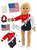American Fashion World Super Fun Gymnastic 5 PC Set for 18 inch Dolls