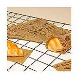 ZYQXB 50 hojas de papel de cera a prueba de grasa Pan Hamburguesa Sandwich Wrapper Fast Food Packaging Suministros Accesorios de Cocina