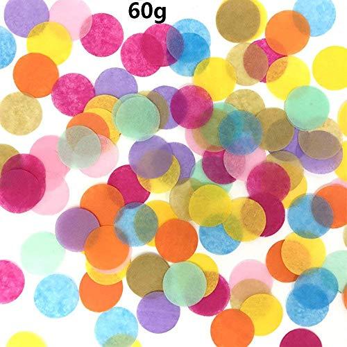 Groß Konfetti Blau Mehrfarbig,60g Pastell Gross 2.5cm Runde Rosa Seiden-Papier Tabellen Pailletten Tissue Metallic Confetti für Tischdeko Geburtstag Taufe Party Hochzeit Baby Shower Dekoration