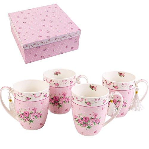 London Boutique K414Tassen, Geschenk set-set von 4, Rose Pink