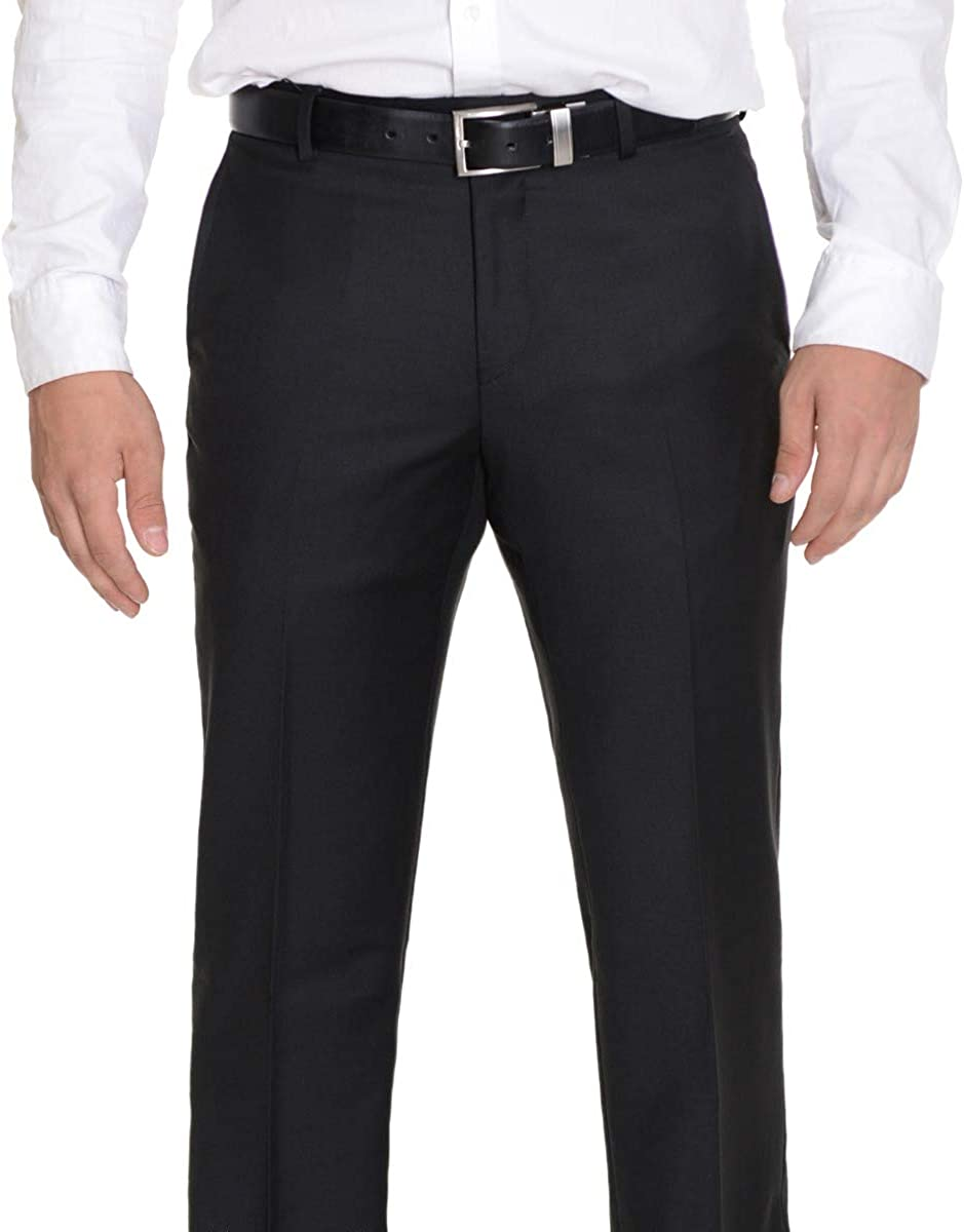 Raphael Extra Slim Fit Solid Max 42% OFF Pants Black Machine Dress Many popular brands Washable