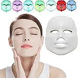 MINCHEDA Blanchiment de Soins de la Peau Quotidienne Masque de beauté faciale, 7 Couleur LED Masque Photon Light rajeunissement de la Peau, la Nouvelle thérapie Photon LED