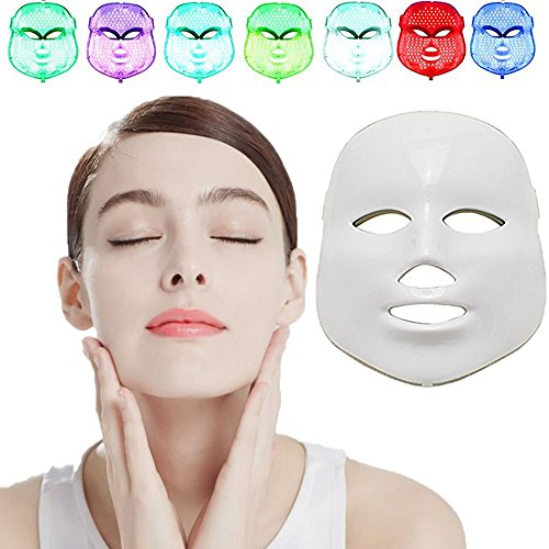 Silaite [New Version 2018] Whitening Daily Skin Care Facial Beauty Mask, 7 Color LED Mask Photon Light Skin Rejuvenation,NEWEST LED Photon Therapy,Facial Beauty Skin Care Light Treatment