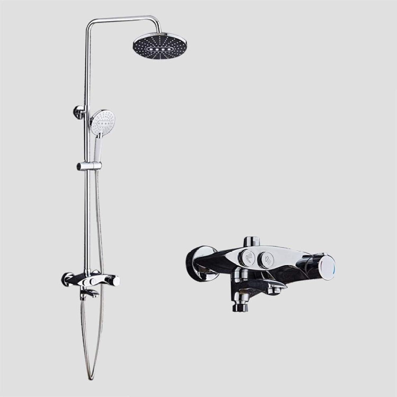 LyMei Duscharmatur, Verstellbare Slide Bar-Halter für Luxus-Badezimmer-Dusche-Set-Wall Mounted Regendusche Head Systems-Kupfer und Edelstahl