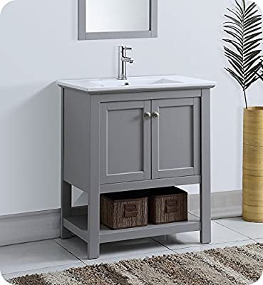 "Fresca Manchester 30"" Gray Traditional Bathroom Vanity"