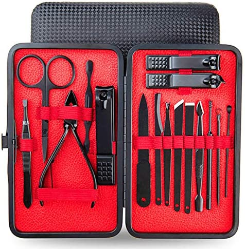 Docreate Manicure Set for Men Nail Clippers Set Manicure Pedicure Kit 18 in 1 Stainless Steel product image