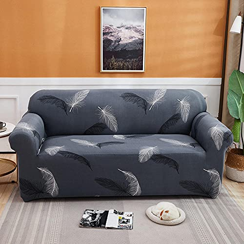 Fsogasilttlv Sofa Protector with Elastic Strap 1 Seater,Four Seasons Sofa Cover, Chaise Longue Elastic Protective Cover Seat For Bedroom Apartment 90-140cm(1pcs)