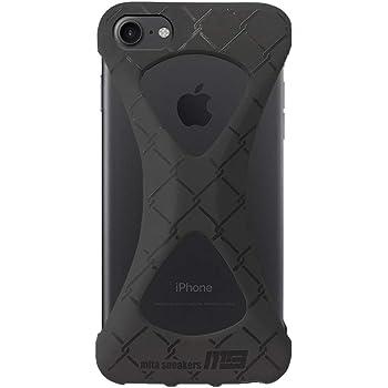 Palmo パルモ スマホケース mita sneakers iPhone SE 2020(第2世代) iPhone8 iPhone7 対応 ブラック 黒 公式 コラボモデル グッドデザイン賞 レッドドット・デザイン賞 ( red dot design award ) 受賞 米軍MIL規格取得 落下 防止 耐衝撃 吸収 アイフォン ケース カバー 超軽量 高品質 シリコン アンチダスト加工 スマホリング バンカーリング 代わり 片手 大学 病院験認定済