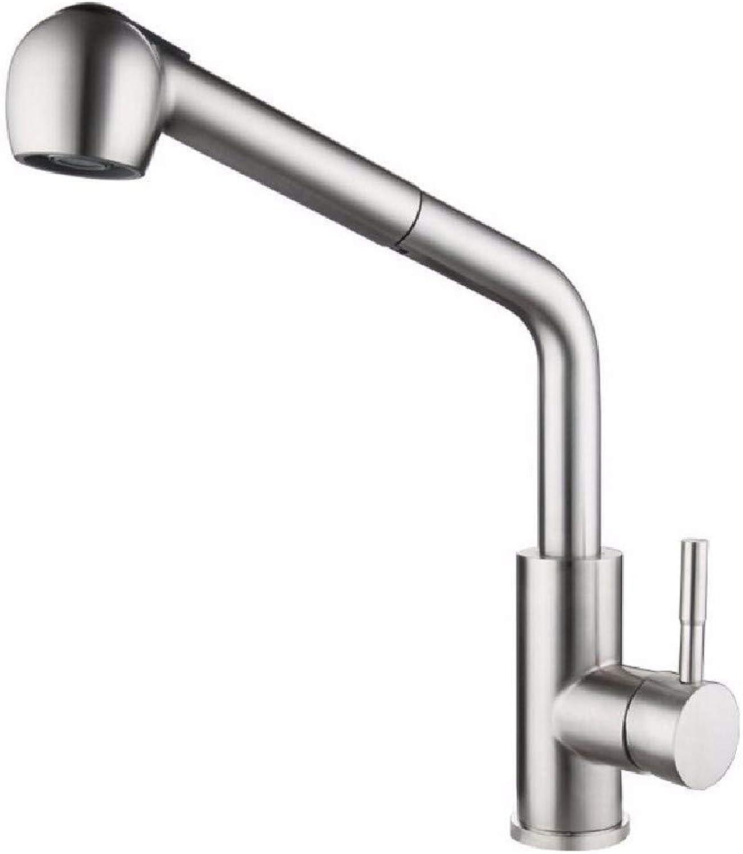 SCJ Küchenmischer 304 Edelstahl Küchenabsaugung Wasserhahn Hot and Cold Wash Basin Pull Pull Teleskopauslauf Wasserhahn