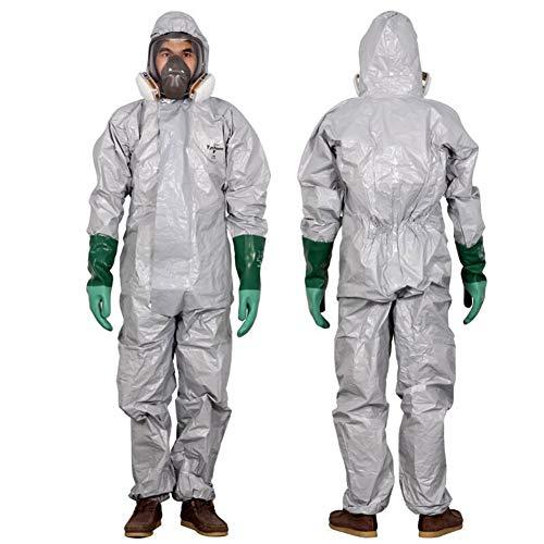 QICLT Schutzanzug mit Reißverschluss und elastischem Baumwollbündchen Gegen Chemie, Staub, Nuklearpartikel - antistatischer Schutz-Overall,L