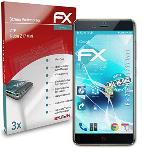 atFolix Schutzfolie kompatibel mit ZTE Nubia Z17 Mini Folie, ultraklare & Flexible FX Bildschirmschutzfolie (3X)