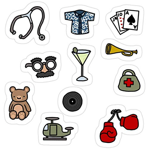 Stickers Martinis and Medicine (3 Pcs/Pack) 3x4 Inch Wall Decals