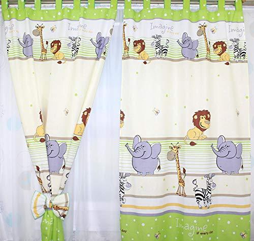 Vorhänge mit Schlaufen für Baby Kinder Kinderzimmer Safari Eule Sterne D8