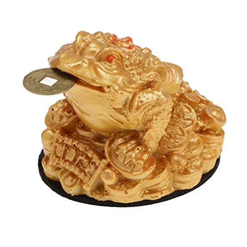 MagiDeal Feng Shui Geld Glücklich Glück Orientalisch Chinese Reichtum Frosch Kröte Münze Dekor