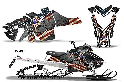 AMR RACING SNOWMOBILE 그래픽 키트 스티커 데칼 POLARIS AXYS RMK SKS 2015+ WW2