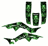 Graphics kit compatible with Honda TRX250R 1986-1989#9500 Zombie (Green)