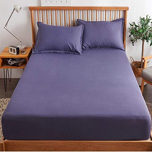 haiba Sábana bajera: transpirable, suave y cómoda (una sola pieza/doble), 120 cm x 200 cm + 25 cm.
