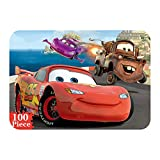 NEILDEN Disney Cars Puzzles in a Metal Box 100 Piece Jigsaw Puzzles for Kids Ages 4-8 Puzzles for Boys and Girls for Children Learning Educational Puzzles ( Cars )