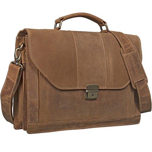 STILORD Bolsos Bandolera Hombres maletín College Bag Bolso de Piel Bolso Mensajero portátil de Cuero auténtico de Vaca