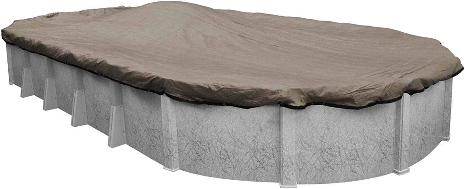 Robelle 4321414 Premium Mesh XL Taupe Winter Cover for Oval Above Ground Swimming Pools, 21 x 41 Pool