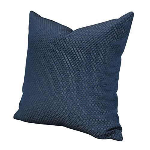 QXbecky Federa Federa quadrata ad alta precisione blu scuro piccolo plaid stile lusso (senza anima) moderna decorazione del divano minimalista 50 cm