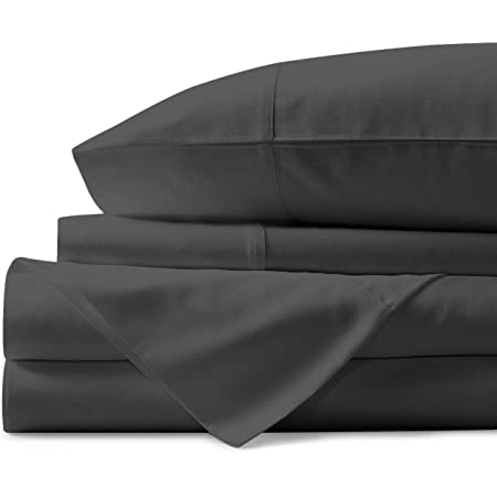 1000 Thread Count Best Bed Sheets 100 Egyptian Cotton Sheets Set Stone Grey Long Staple Cotton California King Sheet For Bed Fits Mattress Upto 18 Deep Pocket Soft Silky Sateen