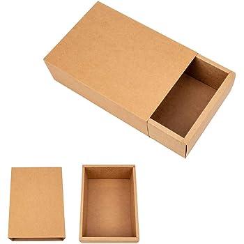 Pack de 50 Unidades Selfpackaging Caja Plana para Invitaciones o Regalos en catulina Kraft S