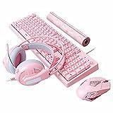 YWS tastiera meccanica e mouse set - Tastiera wireless 2.4Ghz progettata per PC gamers, PS4, PS5, laptop, XBOX, Nintendo