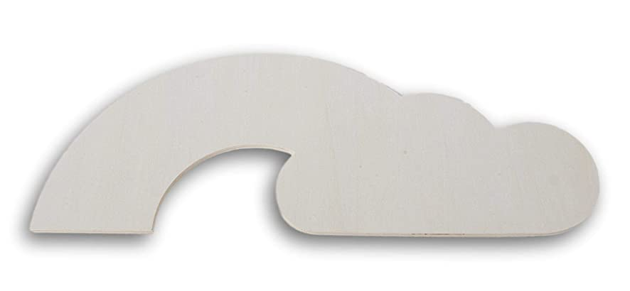 Daisy Crafts Rainbow Cloud Shaped Wood Cutout Plaque - 16 Inches x 6.25 Inches