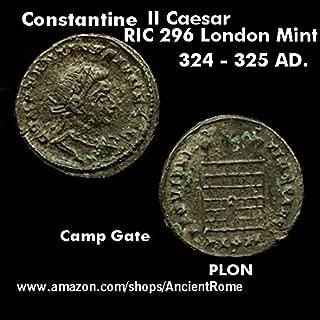 325 AD. Constantine II Caesar. Campgate. London Mint. Ancient Roman Empire Coin