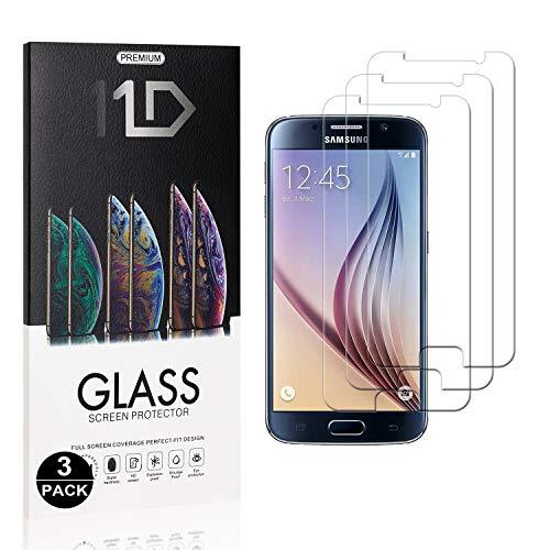 Bear Village® 9H Verre Trempé pour Galaxy S6, sans Bulles, 3D Touch Anti Rayures Protection en Verre Trempé Écran pour Samsung Galaxy S6, 3 Pièces