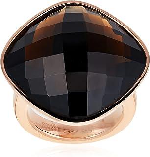 خاتم اسبريت امبريسيف للنساء ESRG11568B1، خاتم بني من الستانلس ستيل بحلية اسود