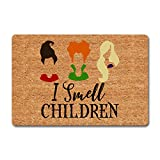 Funny Welcome Doormats Personalized Home Decor Rugs I Smell Children Doormat Hocus Pocus Halloween Door Mat(23.7 in X 15.6 in)Fabric Top With a Anti-Slip Rubber Back For The Entrance Way Indoor Mats