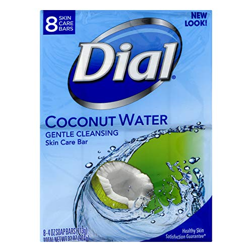 Dial Glycerin Soap Bars Coconut Water & Bamboo Leaf Extract 8 ea (Pack of 2)
