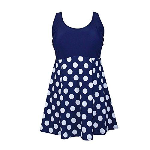 Kxing Womens Swimdress Tummy Control Swimwear Plus Size Swimming Dress Vintage Swimsuit Polka Dot Size 22