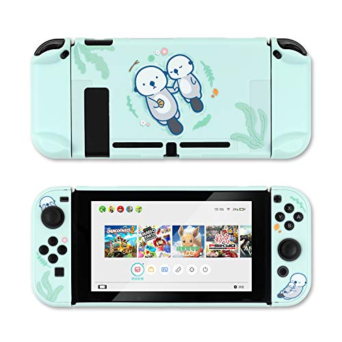 GeekShare Protective Case Slim Cover Case Compatible with Nintendo Switch and Joy Con - Shock-Absorption and Anti-Scratch (Sea Otter)