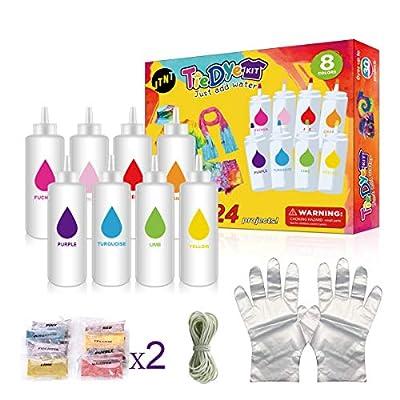 Tie Dye Kit, 8 Colors Kit Upgraded Formulas No ...