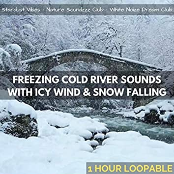 Freezing Cold River Sounds with Icy Wind & Snow Falling: One Hour (Loopable)