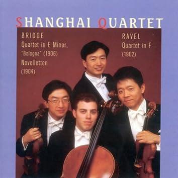 """Ravel, M.: String Quartet in F Major / Bridge, F.: String Quartet, """"Bologna"""" / Novelletten"""