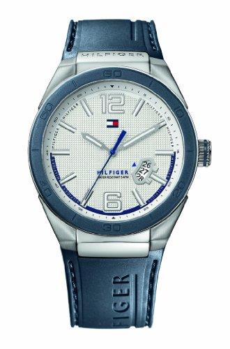 Tommy Hilfiger 1790727 - Reloj de Caballero de Cuarzo, Correa de Caucho Color Azul Claro