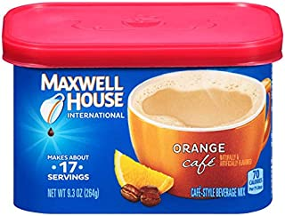 Maxwell House International Orange Cafe Instant Coffee (9.3 oz Canisters, Pack of 4)