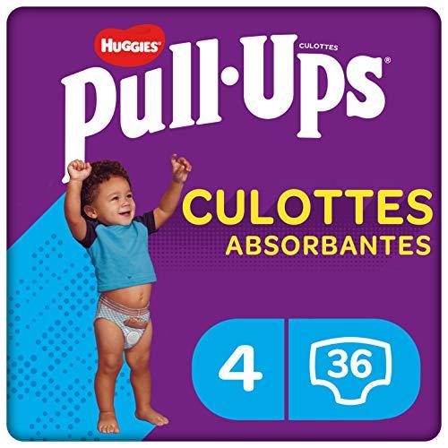 Huggies Pull-Ups, Culottes absorbantes Explorers pour garçon, Taille 9-18 mois (8-12 kg),3 X 36 culottes, Avec indicateur d'humidité