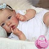 El bebé Reborn es Todo de Silicona, 48 cm 23 Pulgadas Todo el bebé de Silicona es Suave como una verdadera muñeca, y fácil de Lavar, el Uso de Ropa de la muñeca