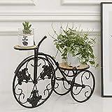 NSYNSY Soporte de Flores para Mesa de Boda, Soporte de Plantas de jardín Vintage, decoración de Bicicletas, macetero de Metal de Hierro con Flores, Soporte Forjado, para Interior, Exterior, decorac