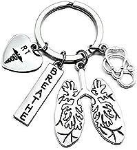 RT Respiratory Therapist Keychain, RT Keychain, Respiratory Therapy Gift, Lung Keychain, Lung Specialist Keychain, Stethoscope, Anatomical Lung, Breathe, Pulmonary, Respiratory Care, Lung Disease