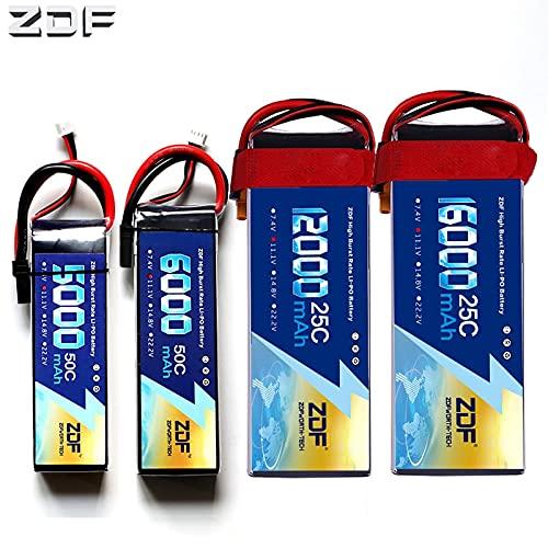 OUYBO ZDF Lipo batería 3S 11.1V 5000mAh 6000mAh 8000mAh 10000mah 12000mah 16000mah 25C 30C 50C for RC helicóptero Quadcopter Accesorios de batería de piezas RC (Color : 3S 16000mah TRX)